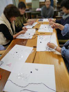 2017年元気アップサロン開催報告「刺繍糸で作るコットンパールのネックレス作り」